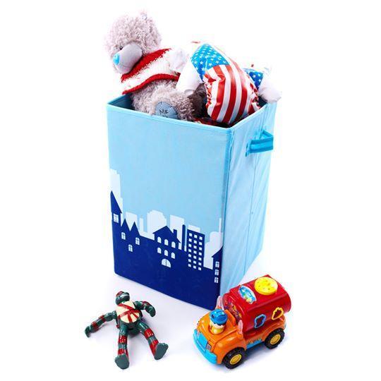 Ящик для зберігання іграшок, 30*30*45 см, Зоопарк Місто (без кришки)