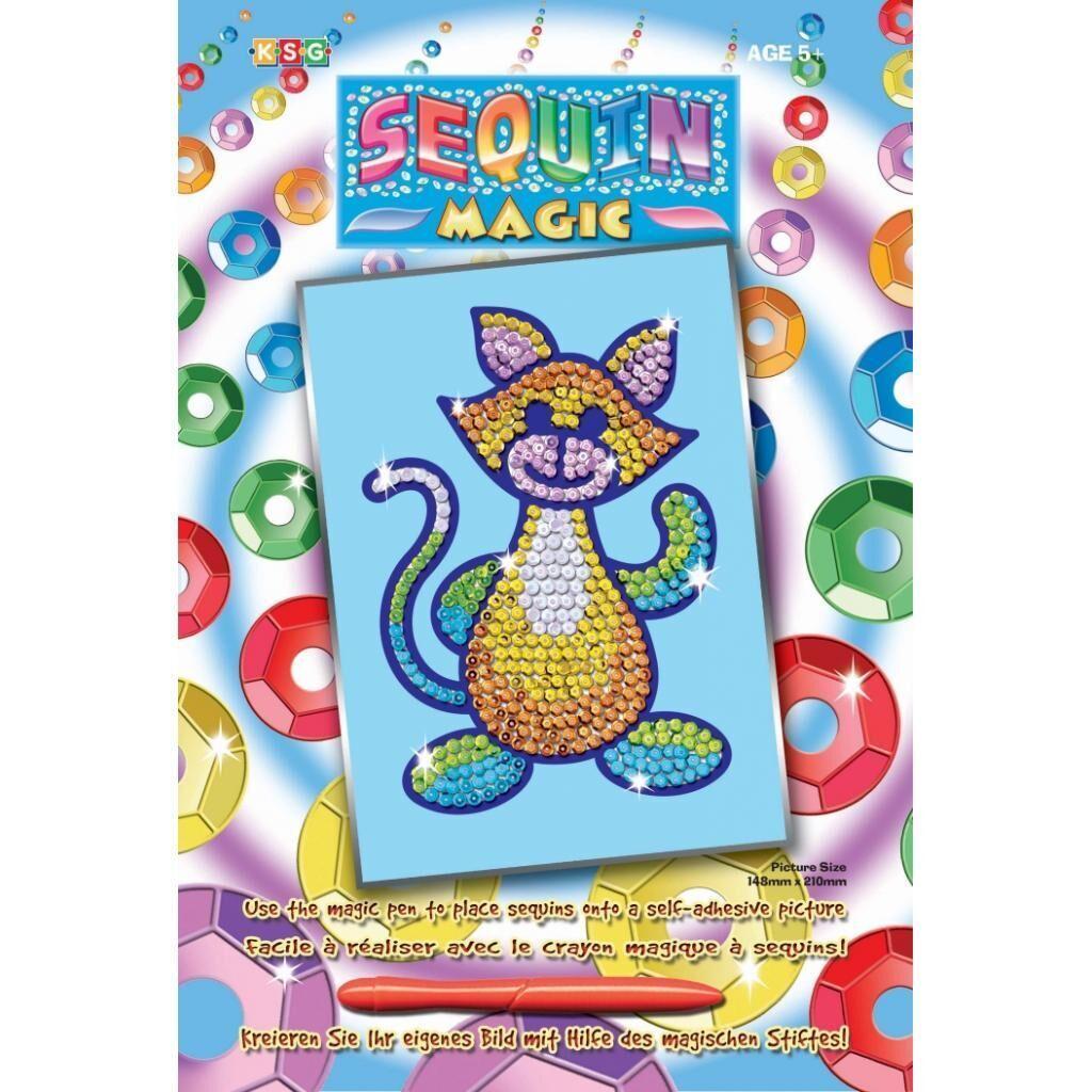 Набор для творчества Sequin Art SEQUIN MAGIC Cat (SA0718)