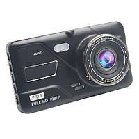 Видеорегистратор DVR H528 Full HD с выносной камерой заднего вида Black (4_832811835), фото 1