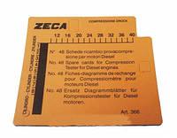 Комплект карточок для дизельного компрессометра Zeca