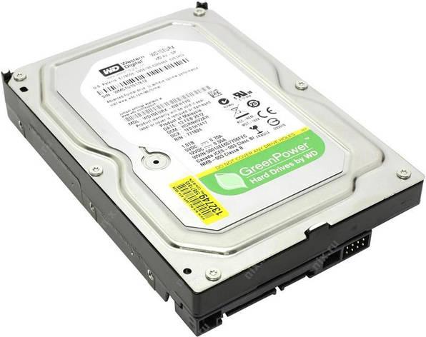 Накопитель HDD SATA 1.0TB WD AV-GP 64MB (WD10EURX) Восстановленный, фото 2