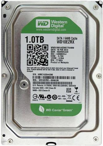 Накопитель HDD SATA 1.0TB WD Green 5400rpm 64MB (WD10EZRX) Восстановленный, фото 2