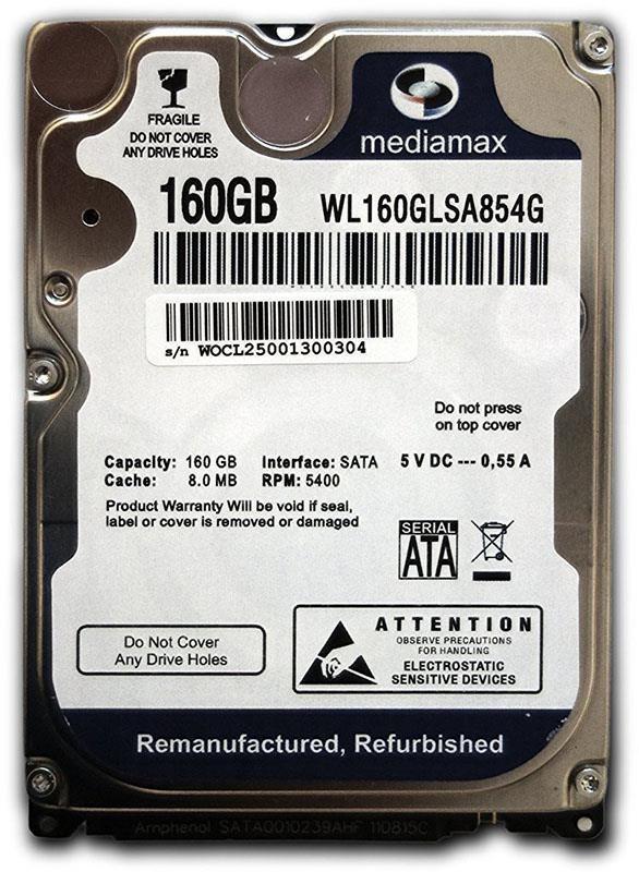 "Накопитель HDD 2.5"" SATA 160GB Mediamax 5400rpm 8MB (WL160GLSA854G)"