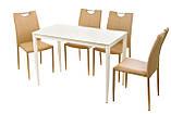 Стол обеденный T-300-11 молочный 110х60 см Vetro Mebel, фото 6