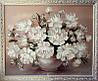 Картина маслом цветы Белые пионы