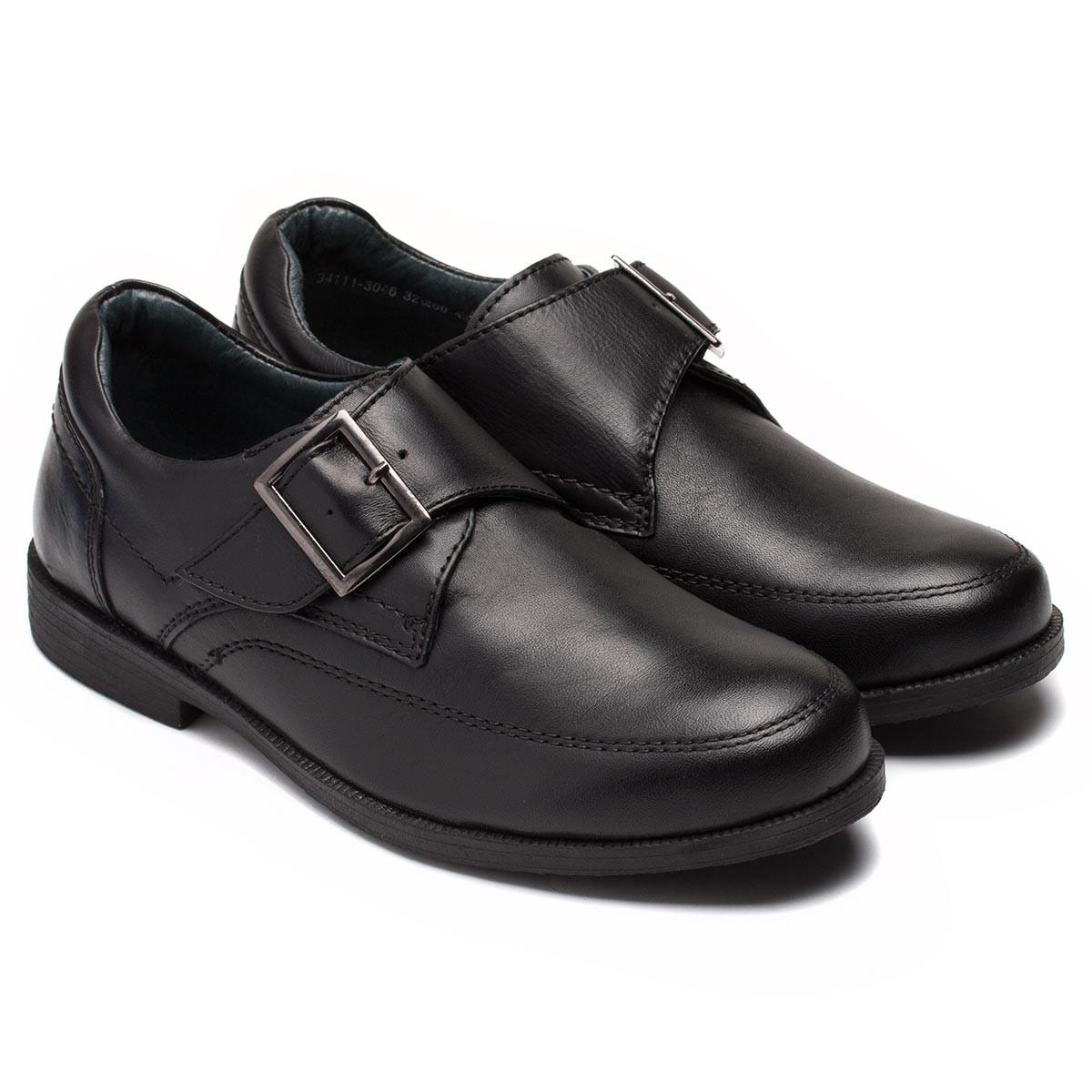 Школьные черные туфли Antilopa для мальчиков, на липучке, размер 32-37