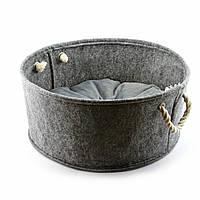 Корзинка без подушки Digitalwool Серый DW-91-07, КОД: 218809
