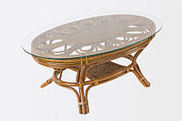 Кофейный столик Cruzo Аскания натуральный ротанг Коричневый ks3-57, КОД: 741893