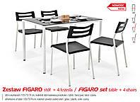 Кухонный комплект FIGARO стол + 4 кресла
