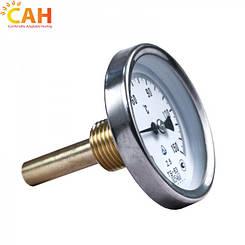 Термометр биметаллический с погружной  гильзой для твердотопливного котла САН