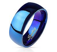 Мужское кольцо из нержавеющей стали синего цвета Spikes R004, р. 19, 20.5, 21.5, 22, 23