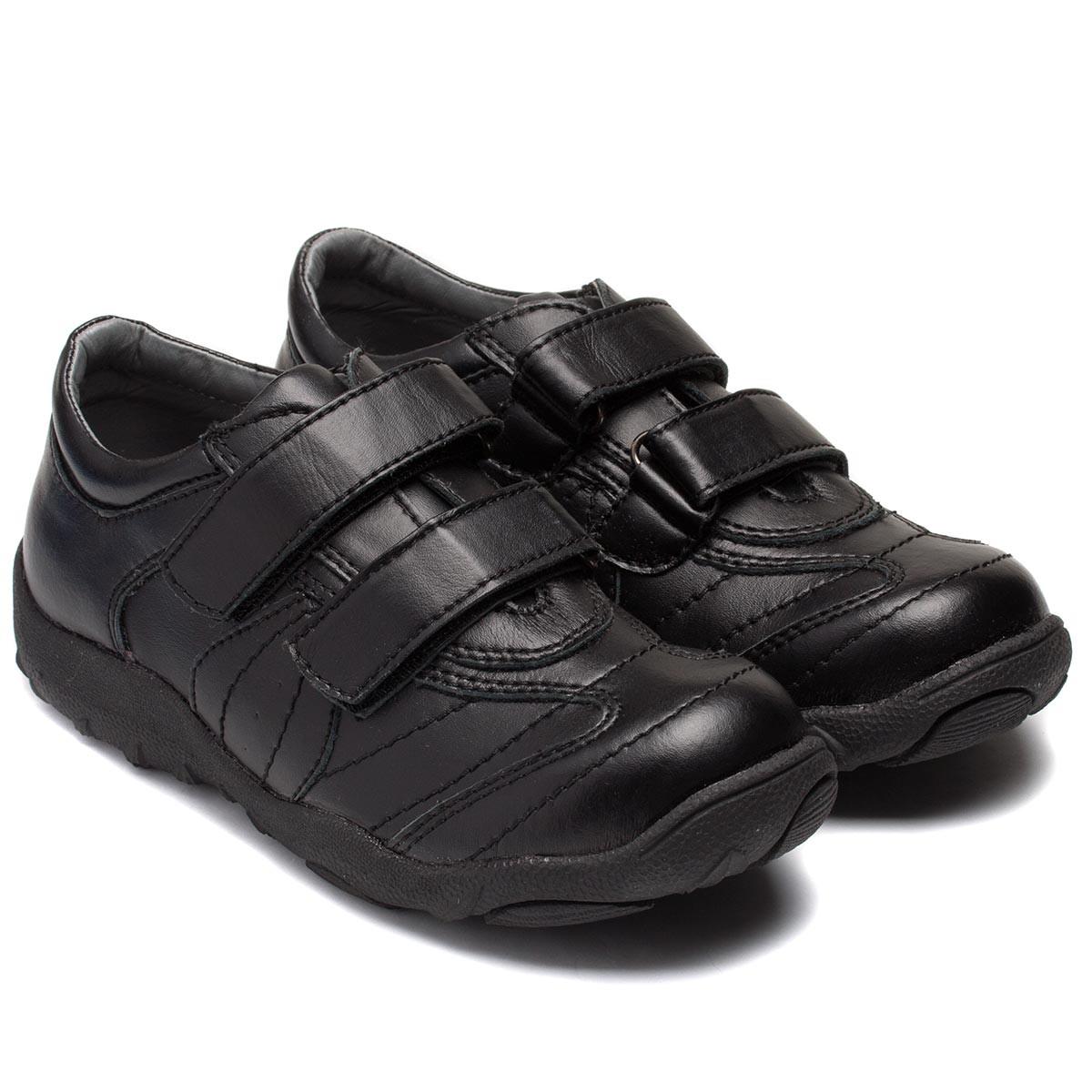 Школьные осенние туфли Nicoboco для мальчиков, на липучках, размер 31-35