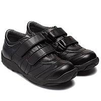 Школьные осенние туфли для мальчиков, на липучках, размер 31-35