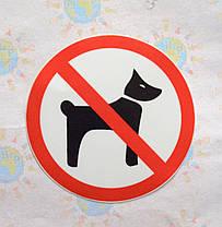 Наклейка запрещающая Вход с животными запрещён