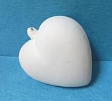 Сердце подвесно среднее ,7см, керамика., фото 2
