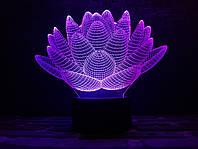 Светильник 3D 3DTOYSLAMP Лотос, КОД: 385741