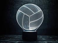 Светильник 3D 3DTOYSLAMP Волейбольный мяч, КОД: 385928
