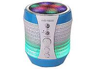 Портативная колонка Bluetooth WSTER WS-1805 со светомузыкой Голубой 200531, КОД: 397668