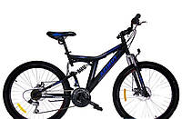 Детский горный велосипед 20 дюймов Blackmount Azimut Черный с синим Распродажа!
