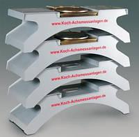 Набор тумб (4 шт) и платформ (2 шт) для произведения регулировки на двухстоечном подъемнике