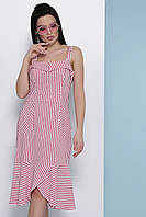 Платье-сарафан GLEM Саванна M Коралловый GLM-pl00276, КОД: 1079542