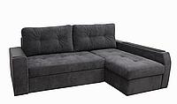 Угловой диван Garnitur.plus Барон темно-серый 250 см DP-202, КОД: 181456
