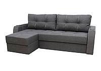 Угловой диван Garnitur.plus Лорд темно-серый 220 см DP-19, КОД: 181480