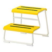 GLOTTEN Табурет-лестница, желтый, белый