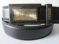 """Ремень подростковый автомат чёрный (кож.зам, 30 мм.)  """"Remen"""" LM-638"""