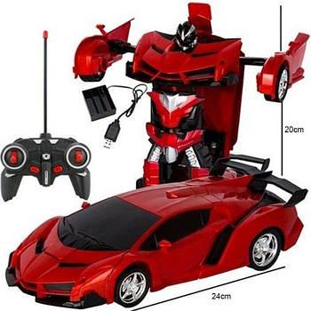 Машина трансформер1:18  DEFORMATION NO:2416 радиоуправляемая игрушка с ПУЛЬТОМ! красная