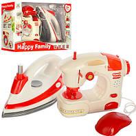 Набор бытовой техники для девочки! Игровой набор утюг и швейная машинка белые! Подарок девочке на 5 лет!
