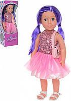 Кукла с фиолетовыми волосами M 3920 (Ника) UA 48см