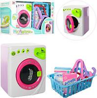 Игрушечный Набор бытовой техники для девочки! Игрушки стиральная машинка и корзина с принадлежностями!, фото 1
