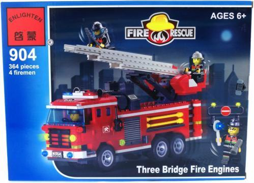 Конструктор Brick 904 пожарная машина 364 дет.
