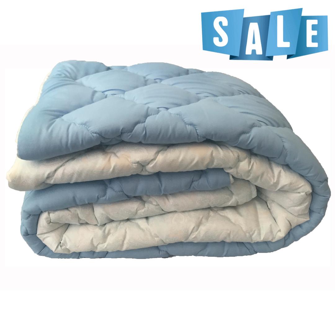 Полуторное одеяло микрофибра/холофайбер ОДА 155см на 210см голубой