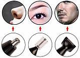 3 в 1 Триммер Geemy Gm-3107 для удаления волос из носа и ушей, для окантовки и подстригания бровей, фото 5