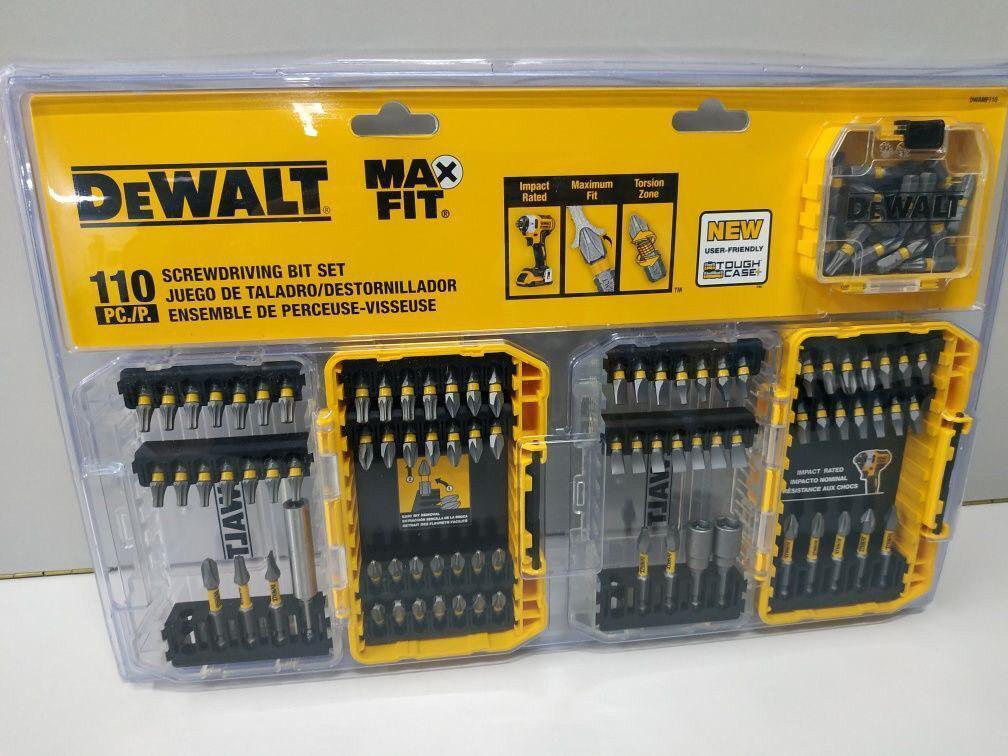 Набор инструментов Dewalt MaxFit набор ударных бит (110 шт)