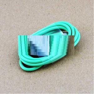 USB кабель для iPhone4,iPod,iPad 1.0м зеленый OEM