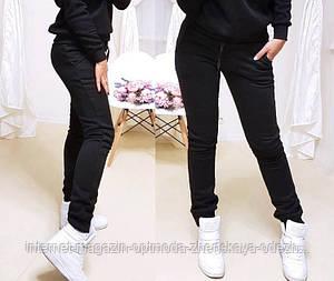 Женские спортивные штаны утепленные, размеры: S, M, L, XL, черный, светло-серый, темно-синий