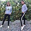 Женский стильный спортивный костюм с пайетками, размеры: S, M, L, XL, цвета разные, фото 6