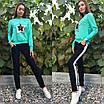 Женский стильный спортивный костюм с пайетками, размеры: S, M, L, XL, цвета разные, фото 3