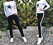 Женский стильный спортивный костюм с пайетками, размеры: S, M, L, XL, цвета разные, фото 2