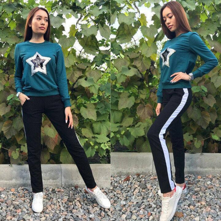 Женский стильный спортивный костюм с пайетками, размеры: S, M, L, XL, цвета разные