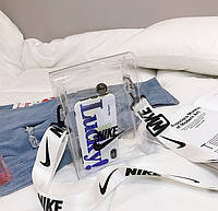 Сумочка Nike маленькая прозрачная мужская женская чоловіча жіноча реплика найк 6362/11 Белый