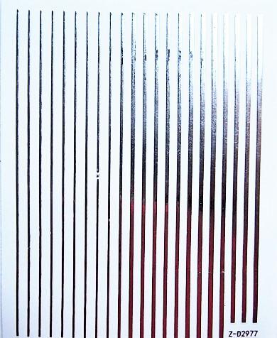 Металлизированные гибкие ленты 3 D полоски на липкой основе- серебро.