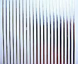 Металлизированные гибкие ленты 3 D полоски на липкой основе- серебро., фото 2
