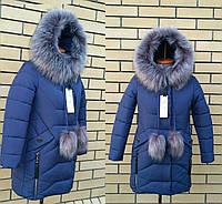 Детская зимняя куртка пуховик для девочки 32-40