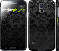 """Чехол на Samsung Galaxy S5 g900h узор черный """"1612c-24"""""""