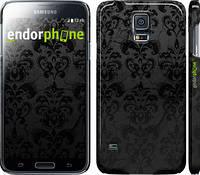 """Чехол на Samsung Galaxy S5 Duos SM G900FD узор черный """"1612c-62"""""""