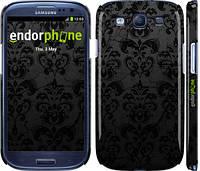 """Чехол на Samsung Galaxy S3 Duos I9300i узор черный """"1612c-50"""""""